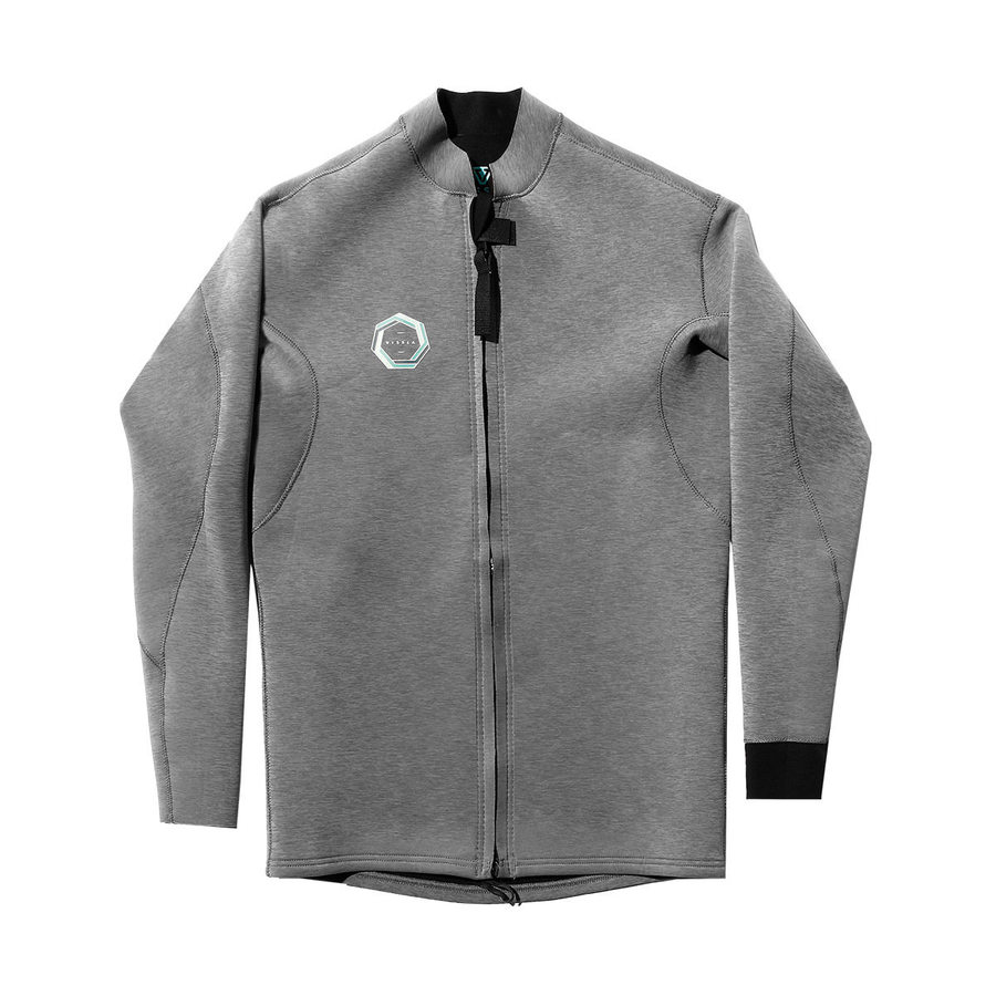 DRAINER FRONT ZIP JACKET GREY HEATHER